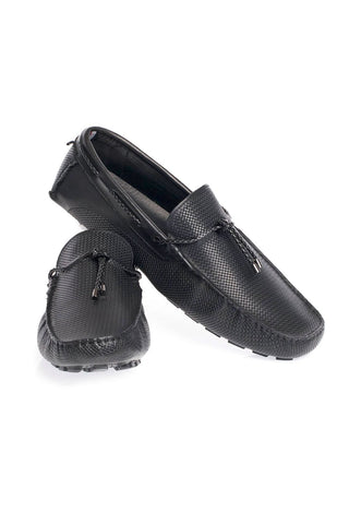 A Pair of Black Loafers