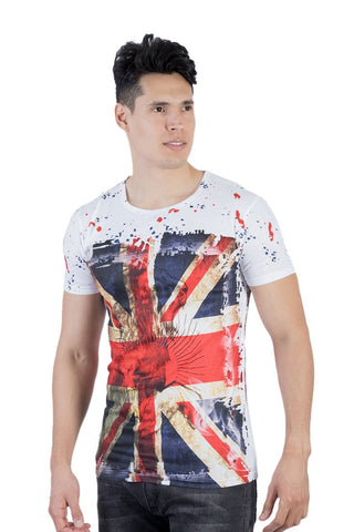 White printed t-shirts for men