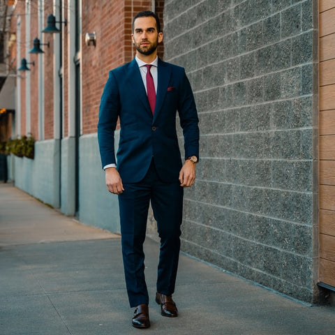 Man in a Navy Suit