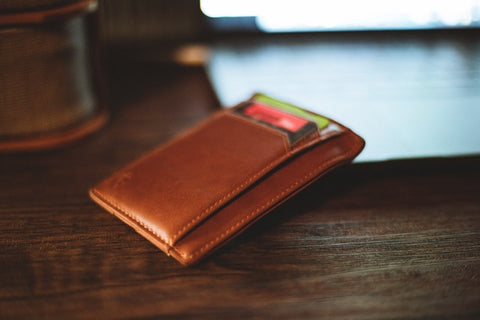 Brown Leather Thin Wallet
