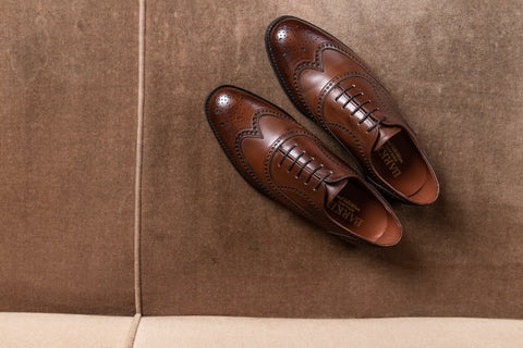 A pair of Brogue Oxford Shoes