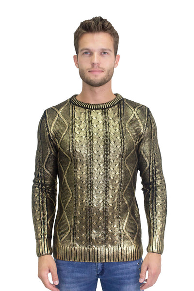 BARABAS Men Sweater High Rank W125 Gold