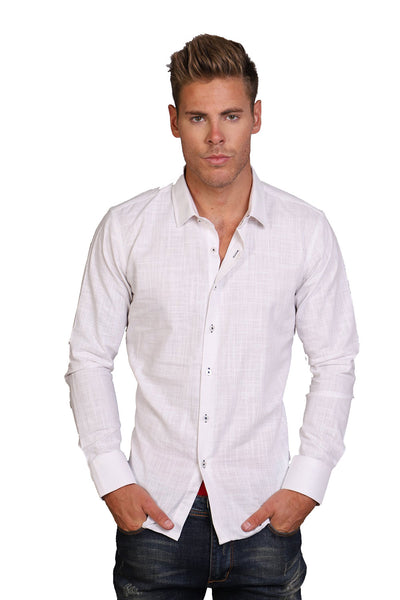 BARABAS Men Shirt Jack B8533-WHT-S White