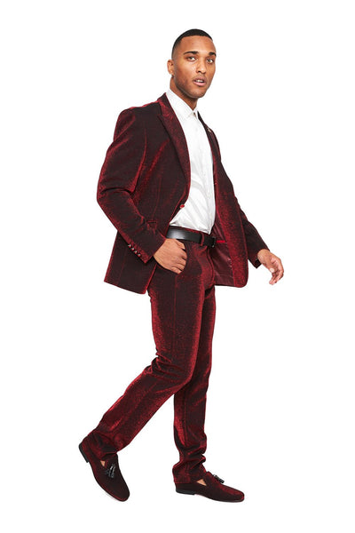 BARABAS Men Blazer Look and Touch- Burgandy SU118 Burgandy