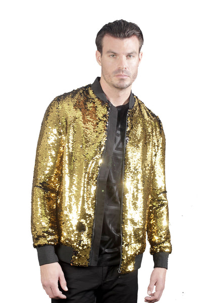 Barabas Men Bomber Tigers Eye URB006# - BLK/GLD-1