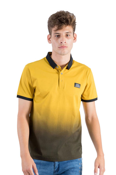 BARABAS Men Polo Printed Shirts Just Slightly PP815 Mustard