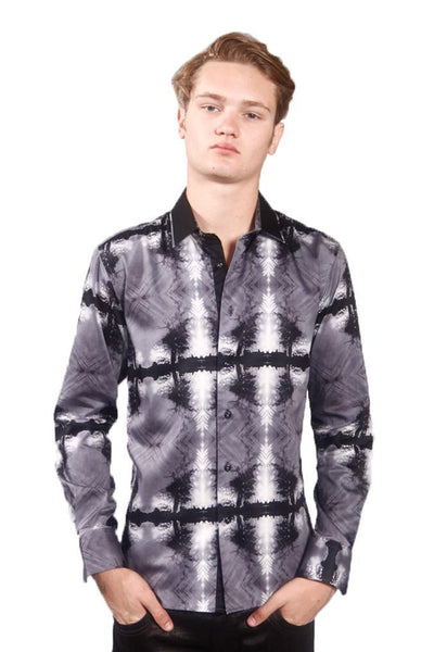 BARABAS Men's Printed button Down Dress Shirt  6017