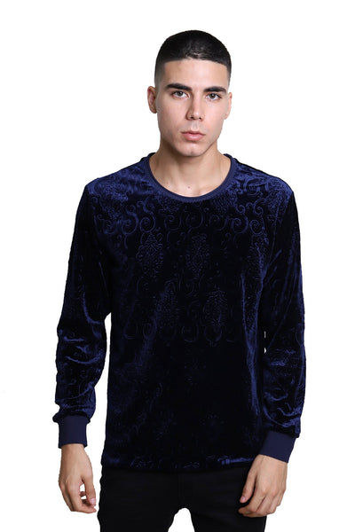 BARABAS Men Sweater Robotic LV102 Navy