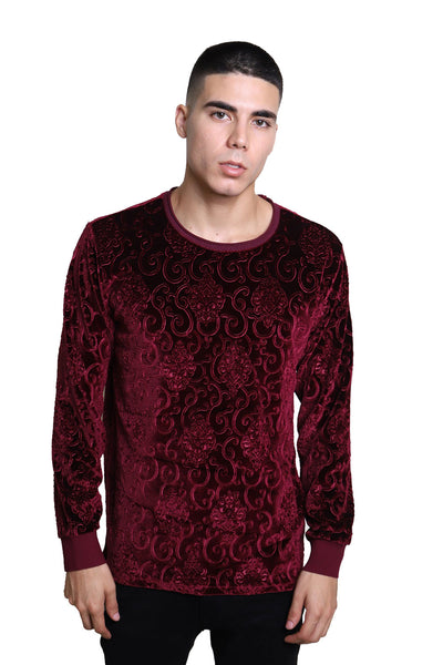 BARABAS Men Sweater Robotic LV101 Wine