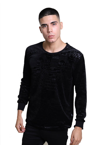 BARABAS Men Sweater Robotic LV102 Black