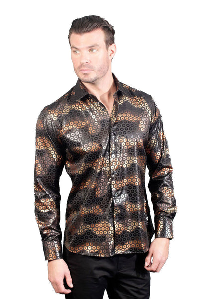 BARABAS Men Shirt incognito B101 Black