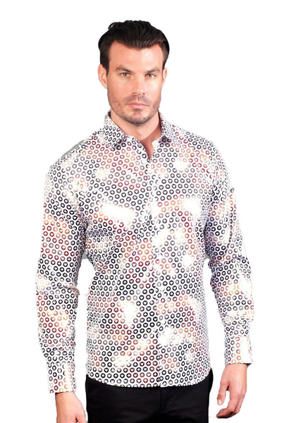 BARABAS Men Shirt incognito B101 White
