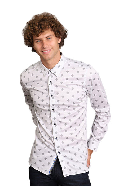 BARABAS Men Printed Shirts Fresco B2904 Blue