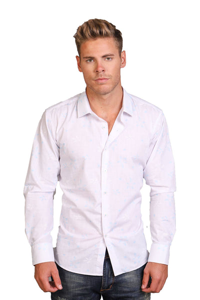 BARABAS Men's solid color button-up dress Shirt B8522