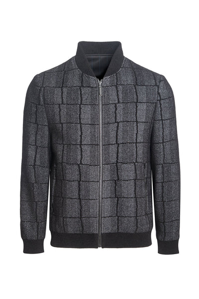 Barabas men warm black grey checkered liner jacket BH57