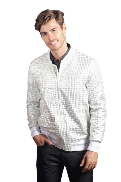 Barabas Men's Textured Cushion Feel Bomber Control Jacket BJ2184