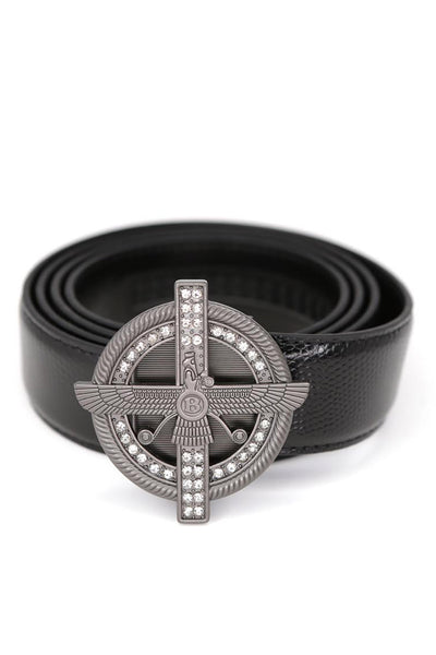 Barabas Men Belt Shinny Buckle Matte and Snake BK801