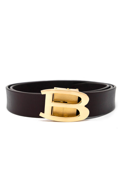 BARABAS Men Gold Buckle Belt Billionaire Navy Black Brown Red White