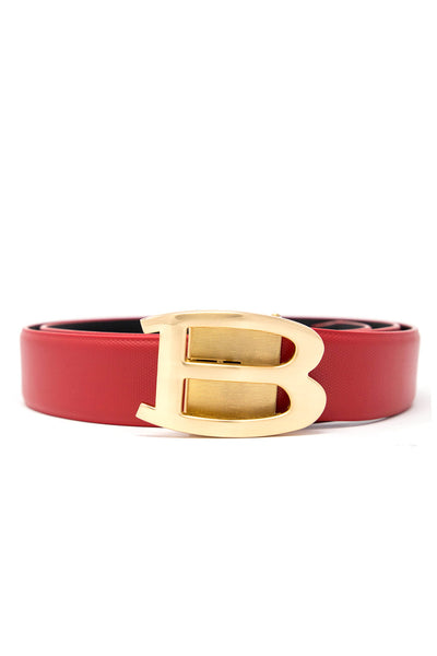 Barabas Men Gold buckle Solid color Crocodile Snake belt BK002