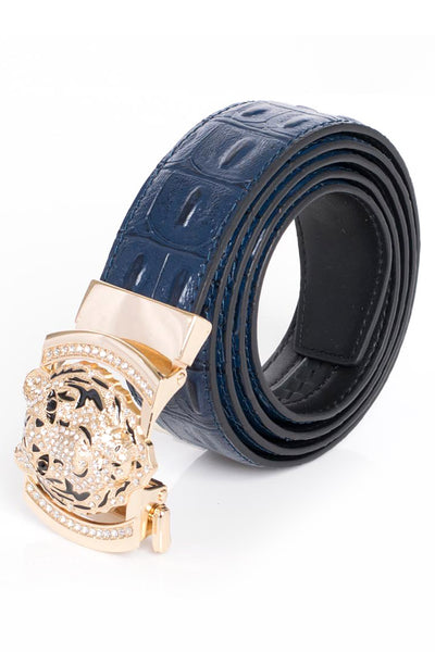 BARABAS Men Belt Gold- White SNAKE BK11 GLD WHTE SNKE