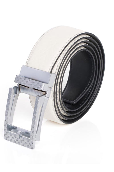 BARABAS Men Belt MATT SILVER/ BLACK BK28 MATT SILV- BLACK