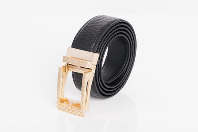 BARABAS Men Belt MATT GOLD/BLACK BK28 MATT GOLD/BLACK