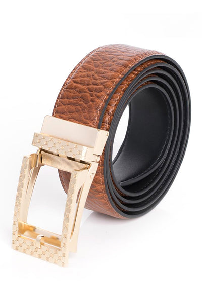 BARABAS Men Belt MATT GOLD/BROWN BK28 MATT GOLD/BROWN