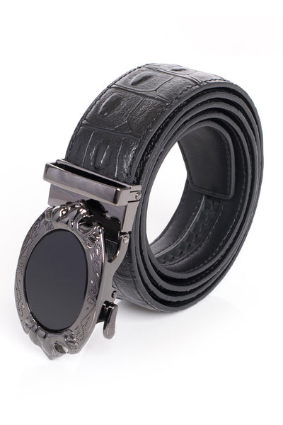 BARABAS Men Belt Shine Black-Black CROC BK45 SHINE BLK BLK CROC
