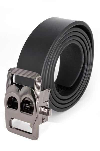 Barabas Men Black buckle Solid color Crocodile Snake belt BK805