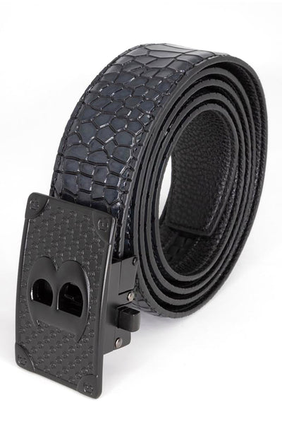 BARABAS Men Belt Bold Black -Red Smooth BK806RED-BLKMAT