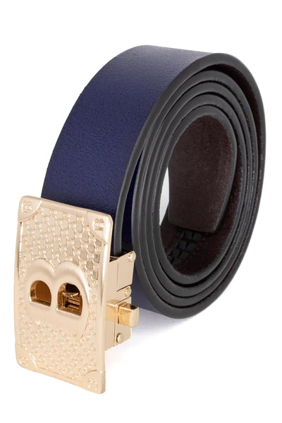Barabas Men gold buckle Solid color Crocodile Snake belt BK806