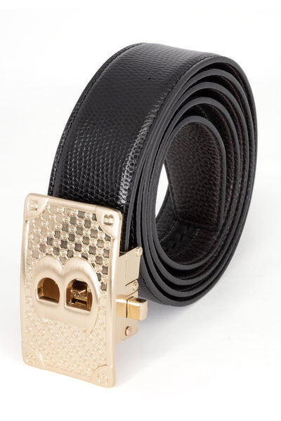 BARABAS Men Belt Bold Gold - Brown Smooth BK806BRWN-GLDMAT