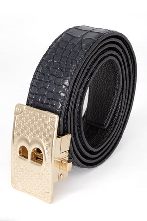 Bold Gold - Black Crocodile