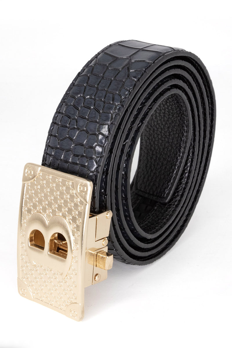 Bold Gold - Black Crocodile - BARABAS MEN