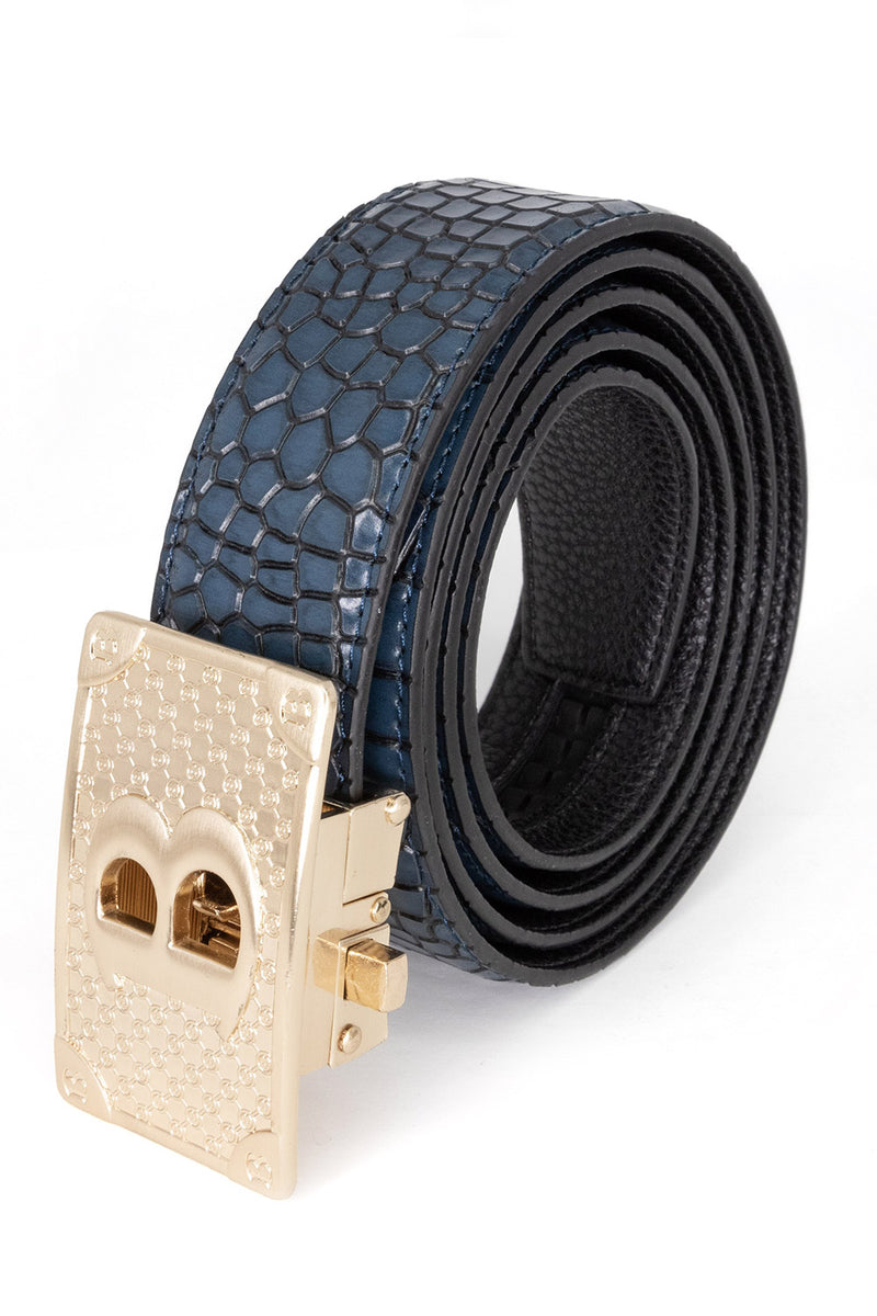 Bold Gold - Blue Crocodile - BARABAS MEN