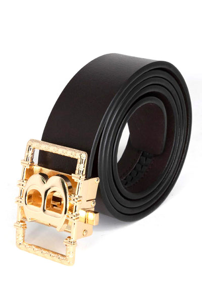 Barabas Men gold buckle Solid color Crocodile Snake belt BK807