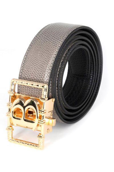 BARABAS Men Belt Shine Gold - Red Snake BK807RED1GLDSHNY
