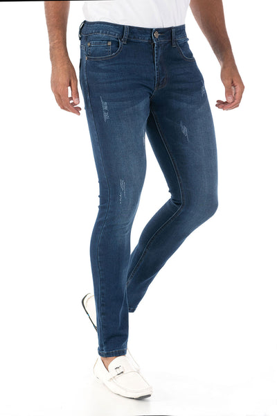 Vassari Men's skinny stretch denim light dark medium blue BS003