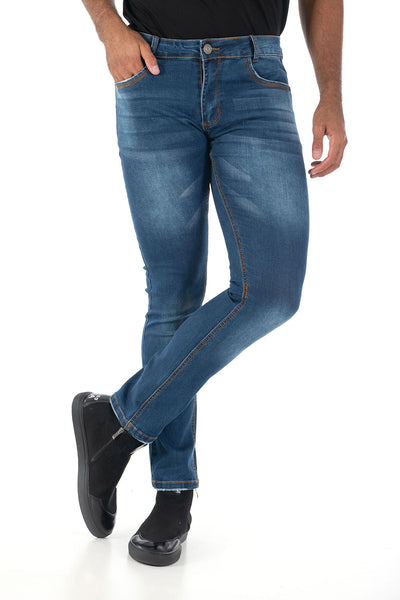 Vassari Men's skinny stretch denim light dark medium blue BS004