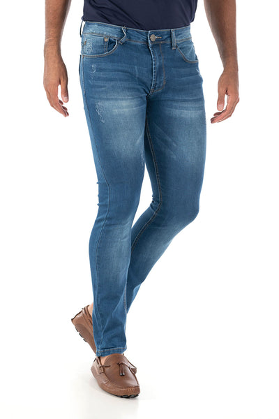 Vassari Men's skinny stretch denim light dark medium blue BS005