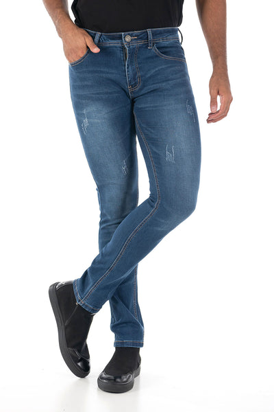 Vassari Men's skinny stretch denim light dark medium blue BS007