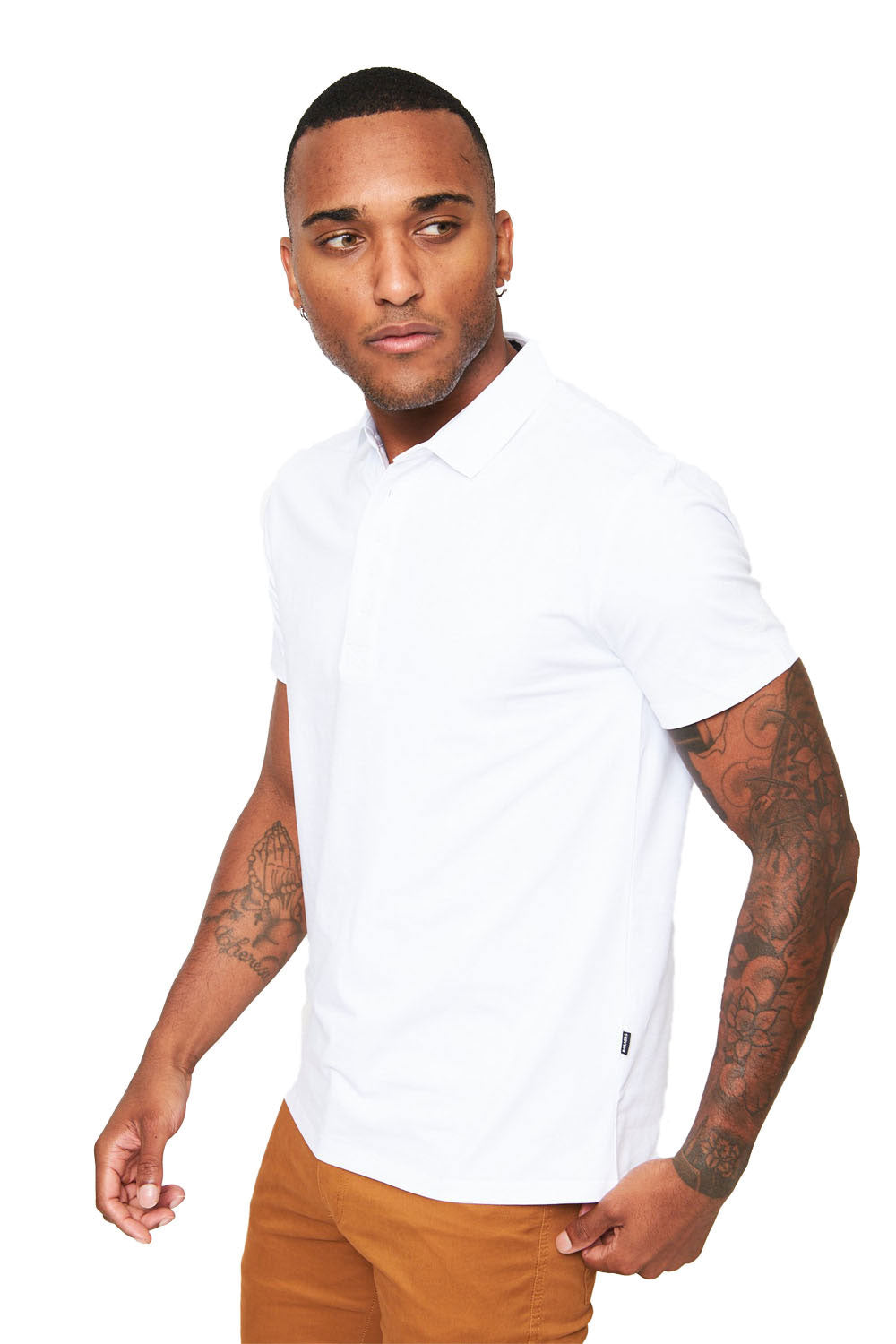 Polo Up- White