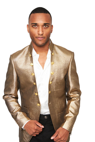 BARABAS Men's Shinny Glittery Luxury Designer gold Blazer BL3045