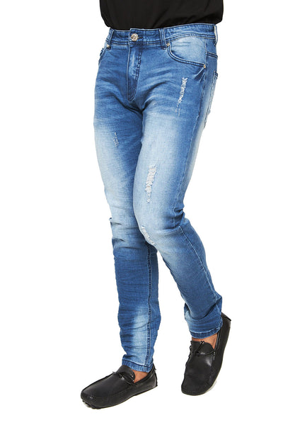 BARABAS Men Jeans Rugged- Light Blue SN8851 L Blue