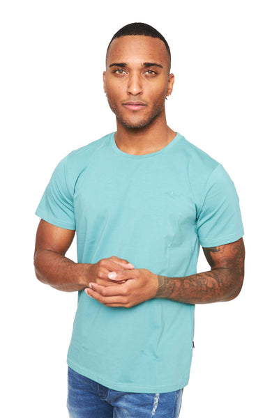 BARABAS Men Shirt High Fashion- Cyan ST933 Cyan