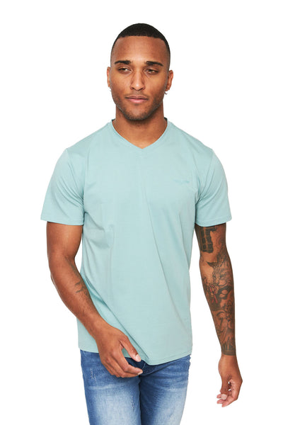 BARABAS Men Shirt V- Fashion- Green TV216 Green