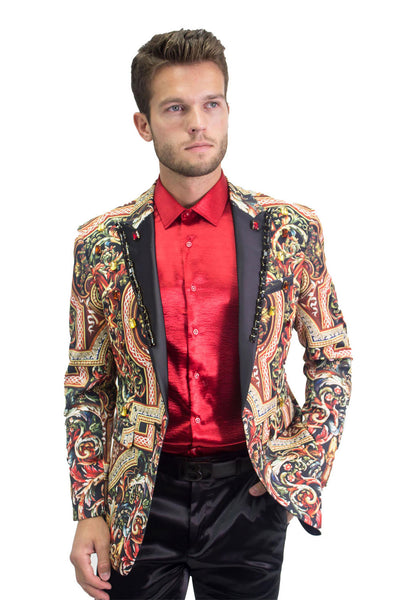 BARABAS Men Blazer Fling JP901 Multi Color
