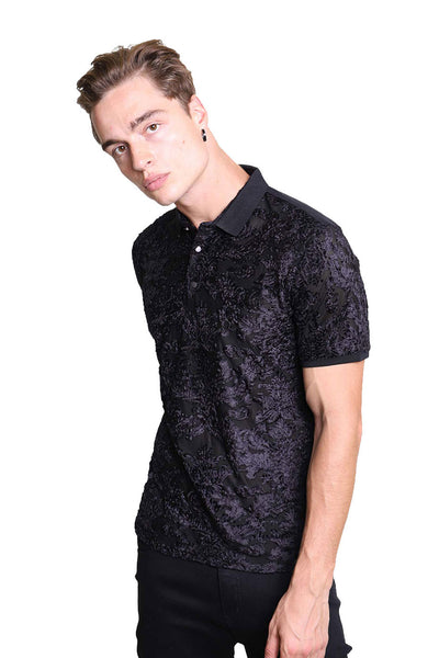 BARABAS Men Polo Printed Shirts Express PB6022 Black