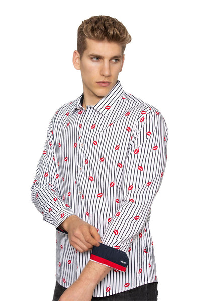 BARABAS Men Shirt Sweet- White LT550 White
