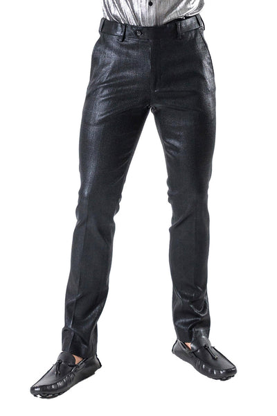 Barabas Men's Shine Finish Straight Fit Dress Pants CP016